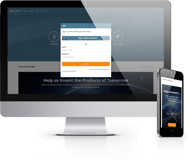Open innovation software - responsive